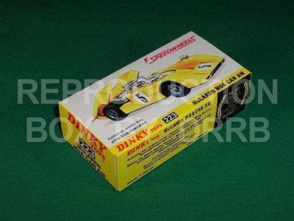 Dinky #223 McLaren M8A CanAm - Reproduction Box
